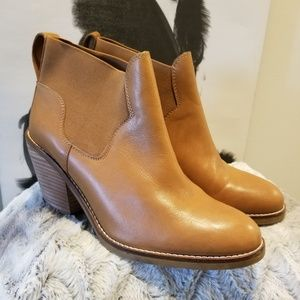 Aldo Brown Leather Cowboy Style Ankle Bootie